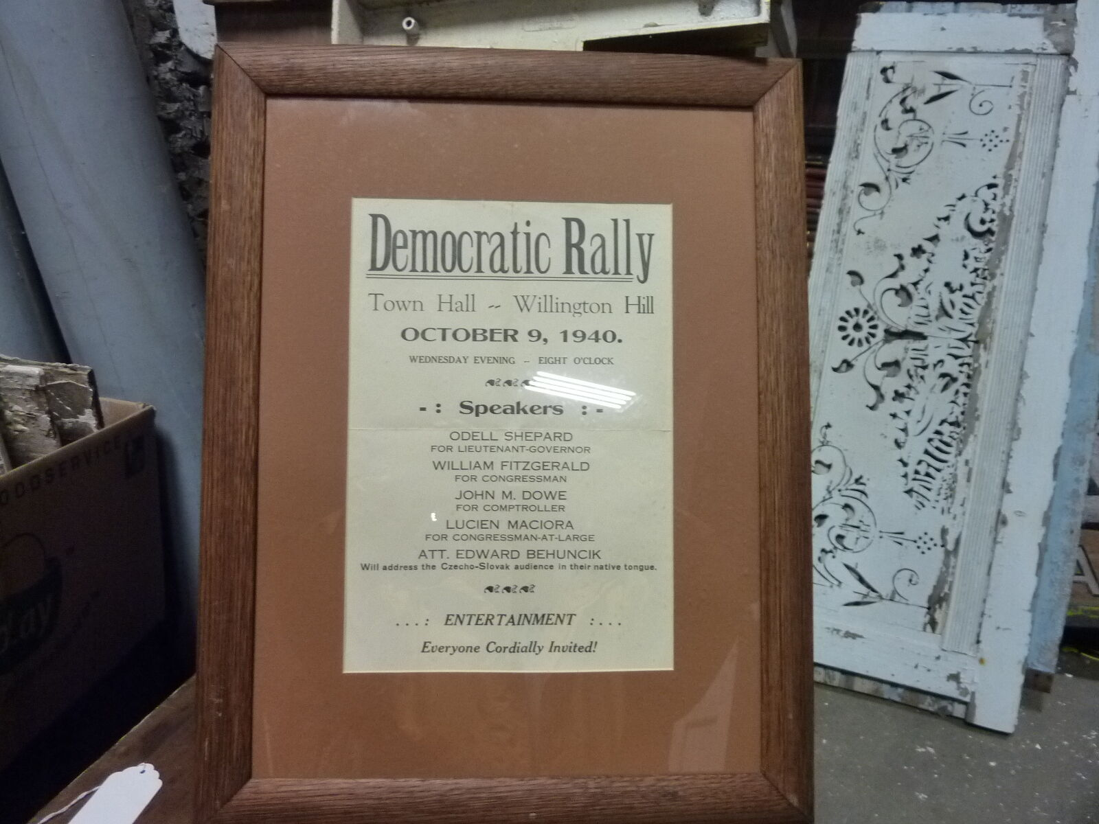 Willington (CT) United States  City new picture : c1940 DEMOCRATIC rally WILLINGTON, CT town green Lt Governor, et al ...