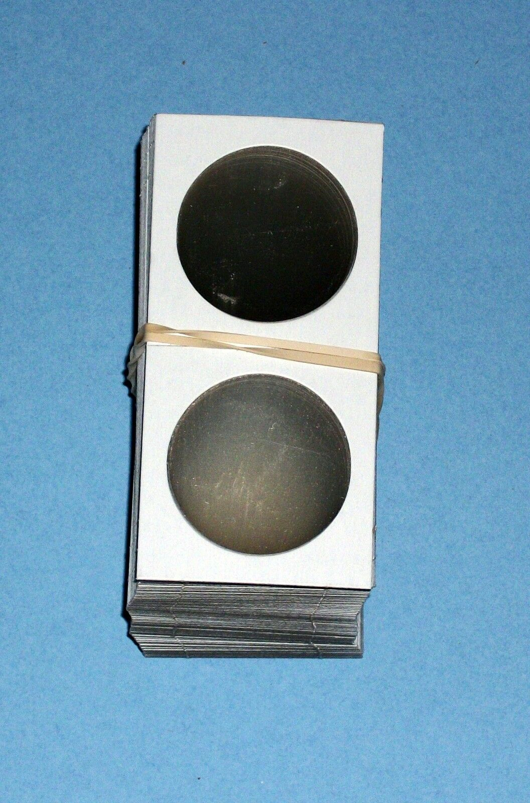 One Hundred (100) Large Dollar Size 2X2 Cardboard/Mylar Coin Holders Flips