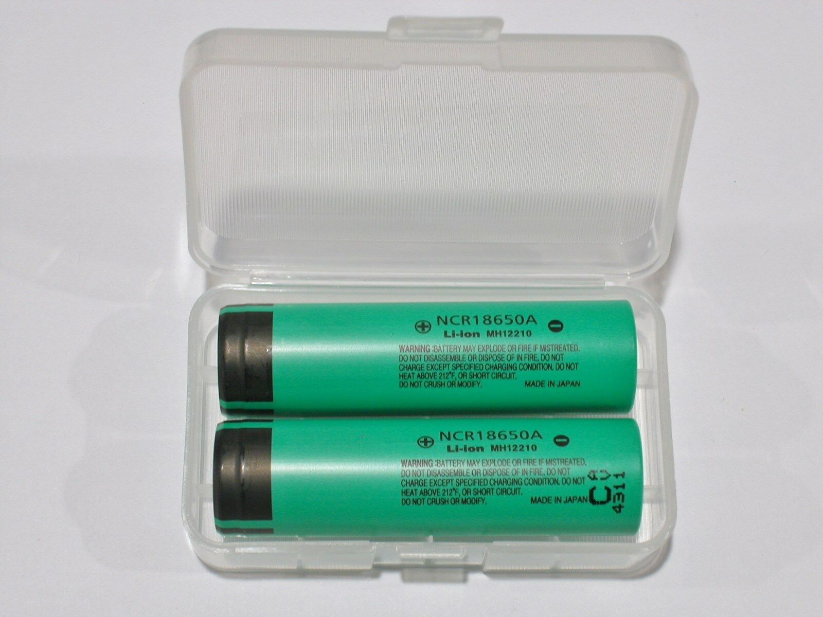 2 Panasonic Ncr18650a Li Ion Battery 3100mah 37v 18650 New Japan 2400mah Rechargeable Liion Batteries W Protection Circuit 1 Of 3free Shipping