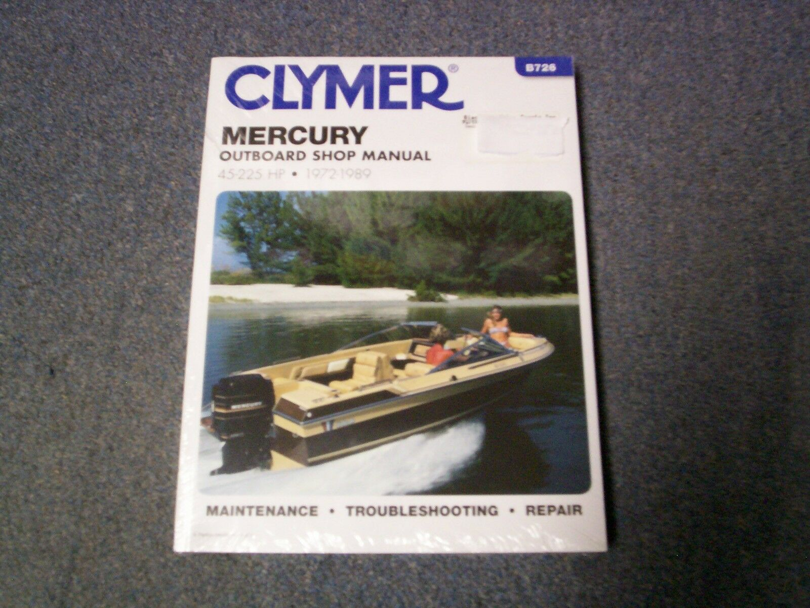 Clymer Mercury Outboard Shop Repair Manual 45 225 Hp 1972 1989 1988 150 Xr2 Wiring Diagrams 1 Of 1only Available