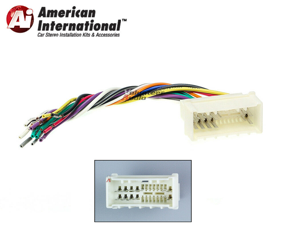 Car Stereo Cd Player Wiring Harness Wire Aftermarket Radio Install Plug 1 Of 4free Shipping