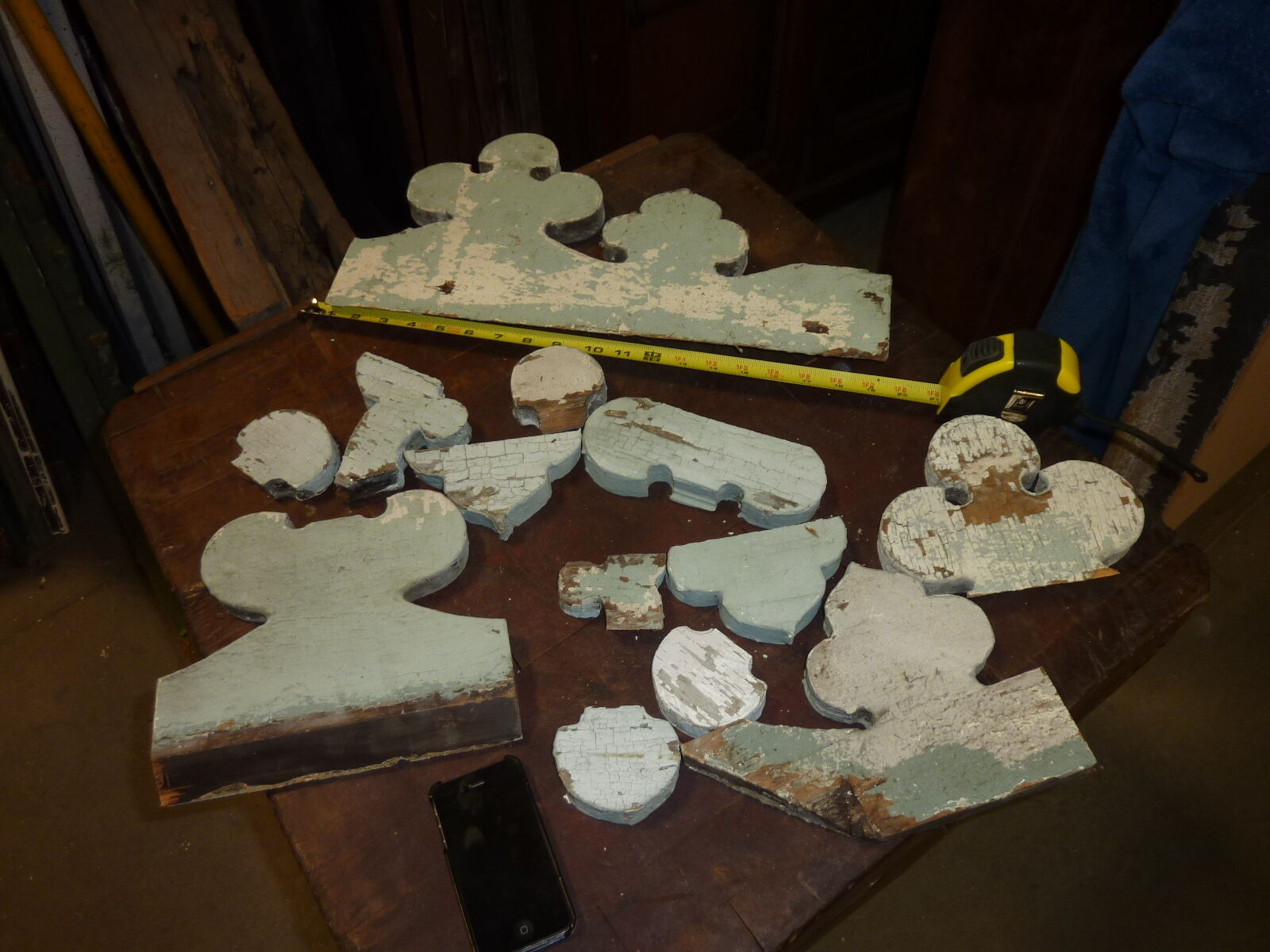 LOT of salvaged VICTORIAN gingerbread FRETWORK elements ~ SOLD as is