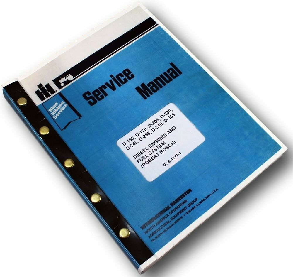 International 515 Loader Diesel Engines Service Repair Shop Manual Pump  Turbo