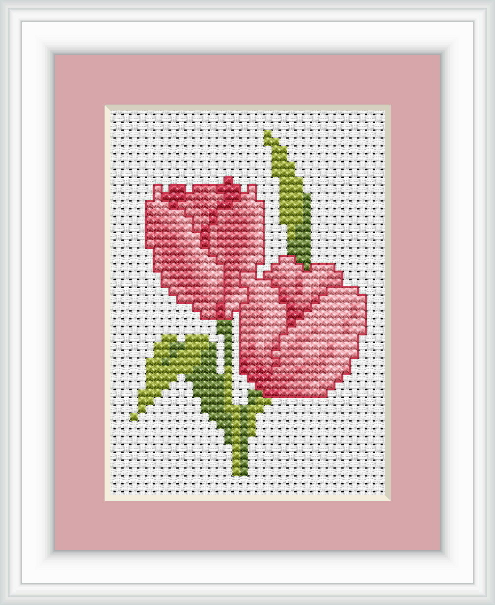 Tulip cross stitch kit by luca s ideal for beginner cm