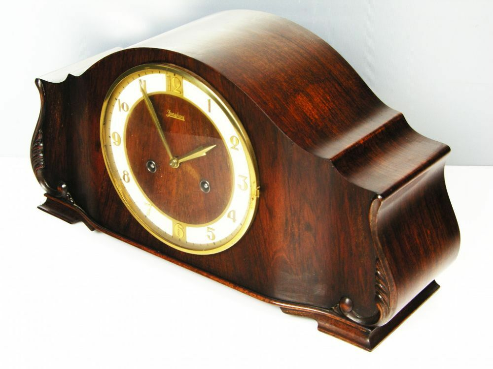 Pure Beautiful Pure  Art Deco    Junghans  Chiming Mantel Clock