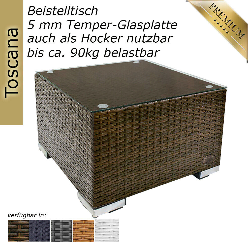 beistelltisch rattan couchtisch teetisch polyrattan tisch gartentisch hocker eur 69 90. Black Bedroom Furniture Sets. Home Design Ideas