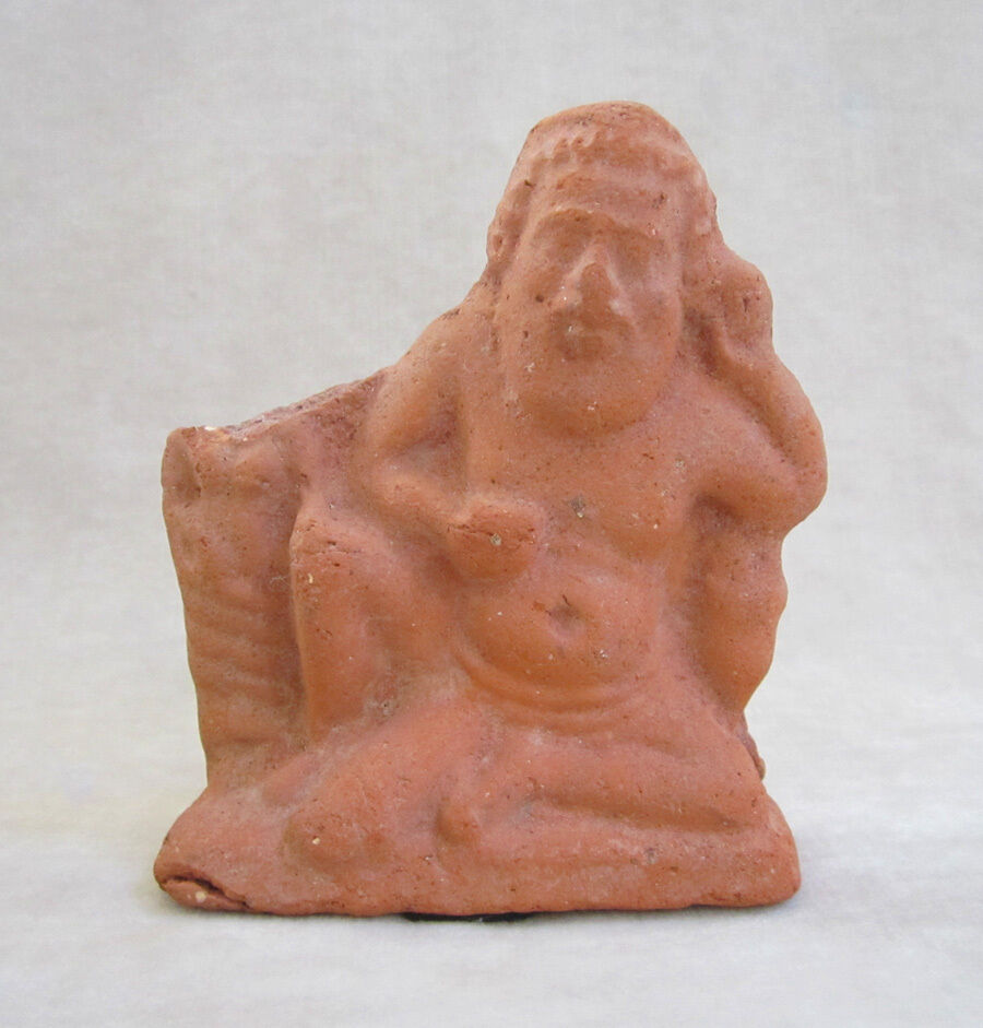 ANCIENT ROMAN/EGYPTIAN TERRACOTTA FIGURE OF THE GOD BES, circa 1st - 2nd Century