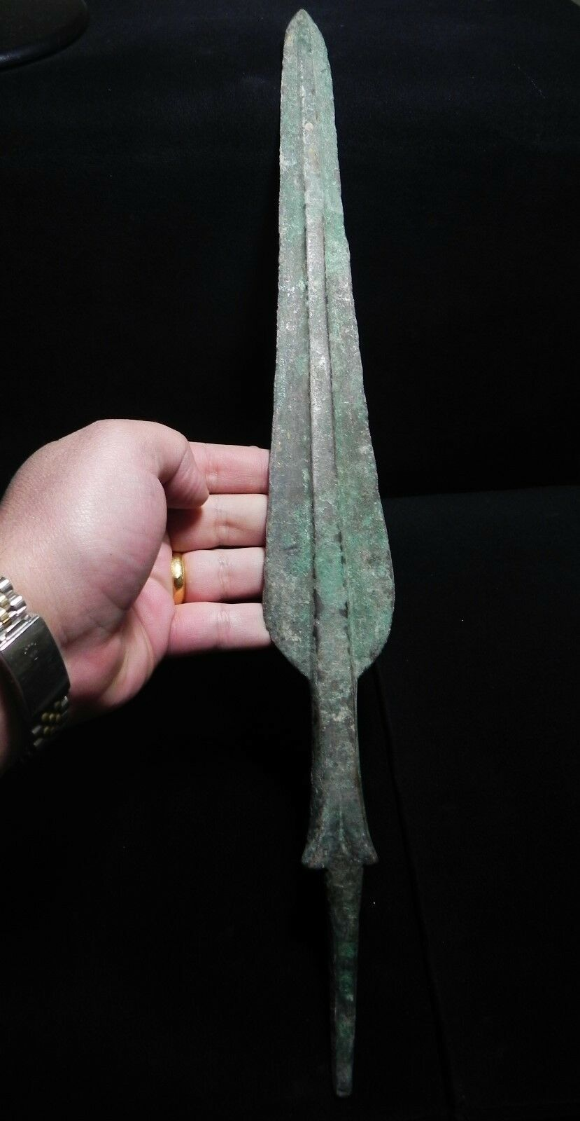 """ZURQIEH -vc26-  OVER 3000 YEARS OLD BRONZE SPEAR - 1200 B.C , 18 """""""