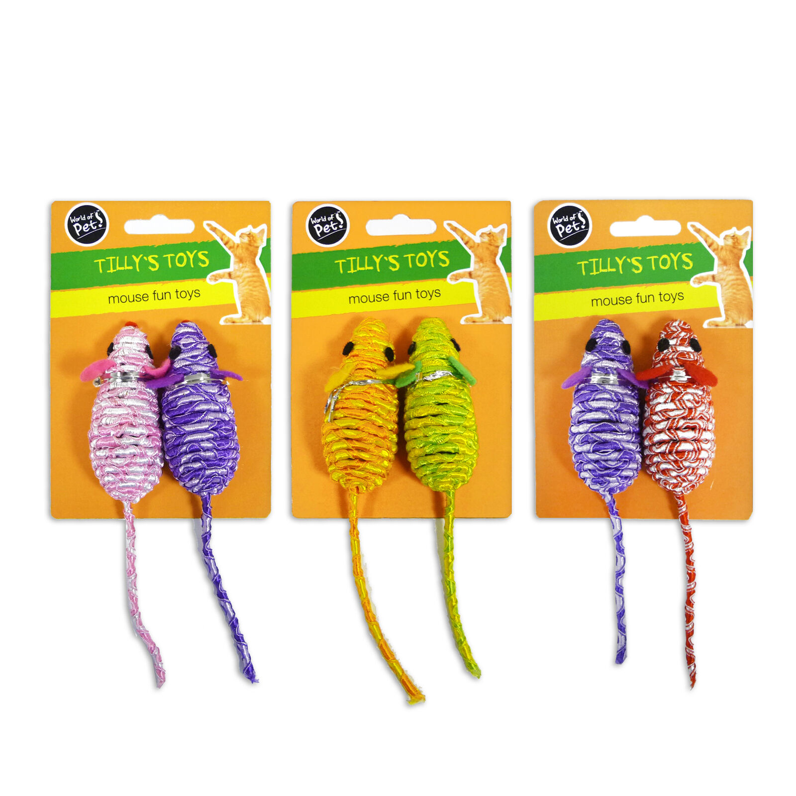 """""""Tilly's Toys"""" Mouse Fun Toy Rattle for Cat & Kitten by World of Pets"""