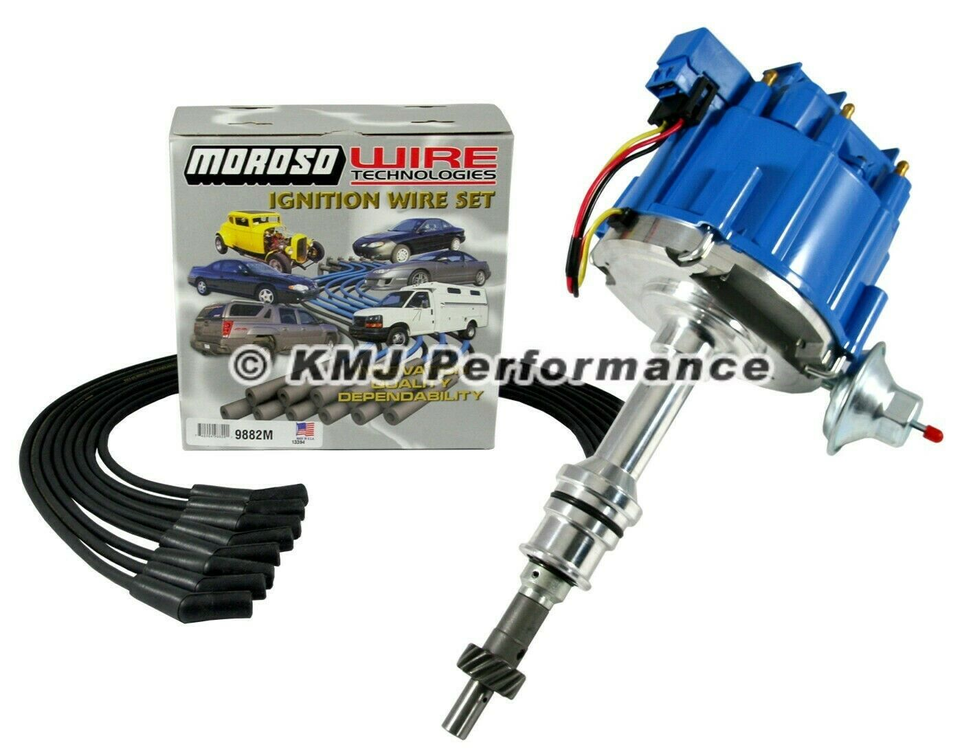 Sbf Small Block Ford 351w Windsor Hei Distributor Blue Cap Moroso 260 Ignition Wiring 1 Of 1free Shipping