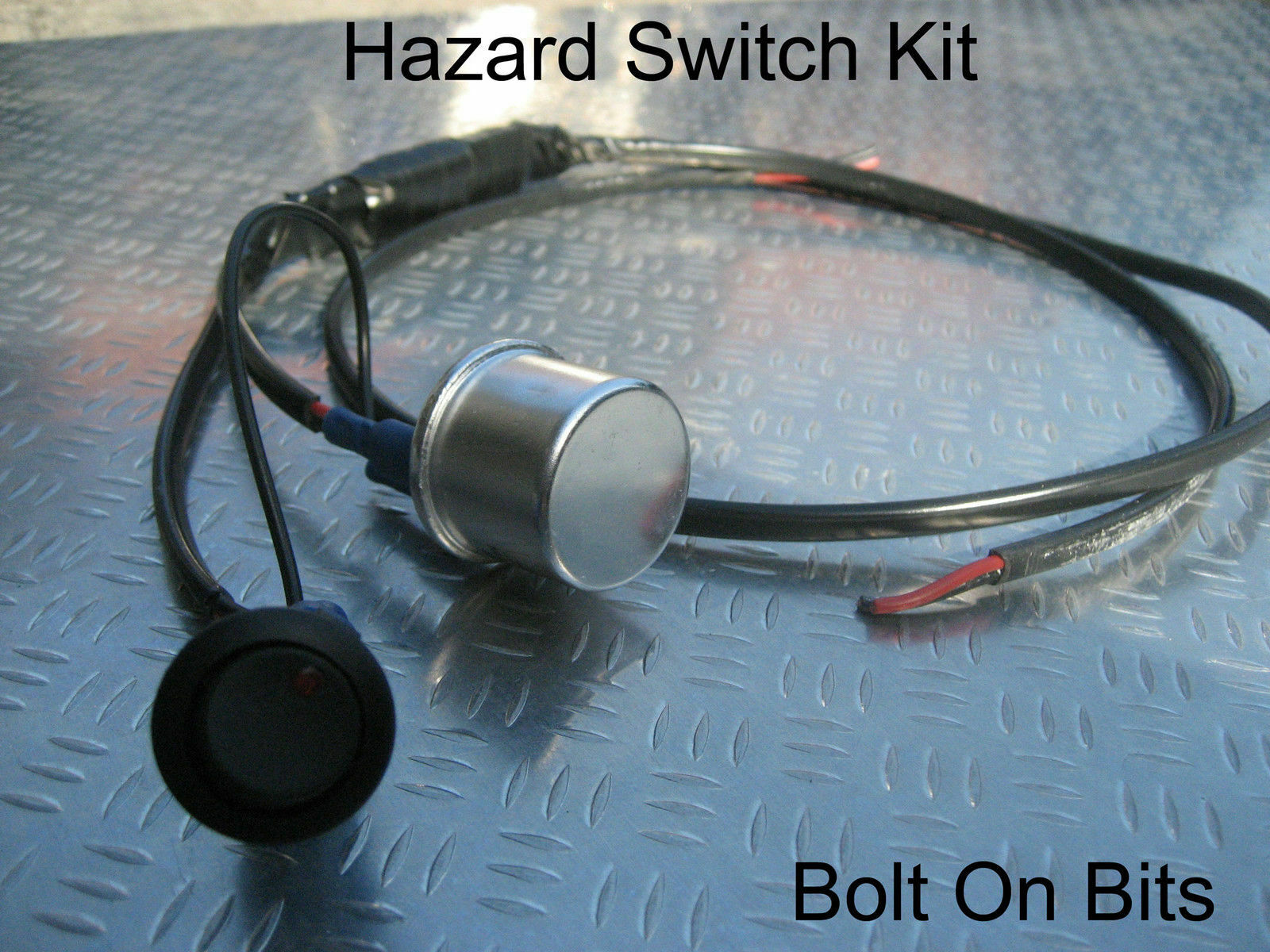 Hazard Flasher Relay Red Warning Switch Wiring Kit Trike Kitcar A Indicator 1 Of 1only 0 Available