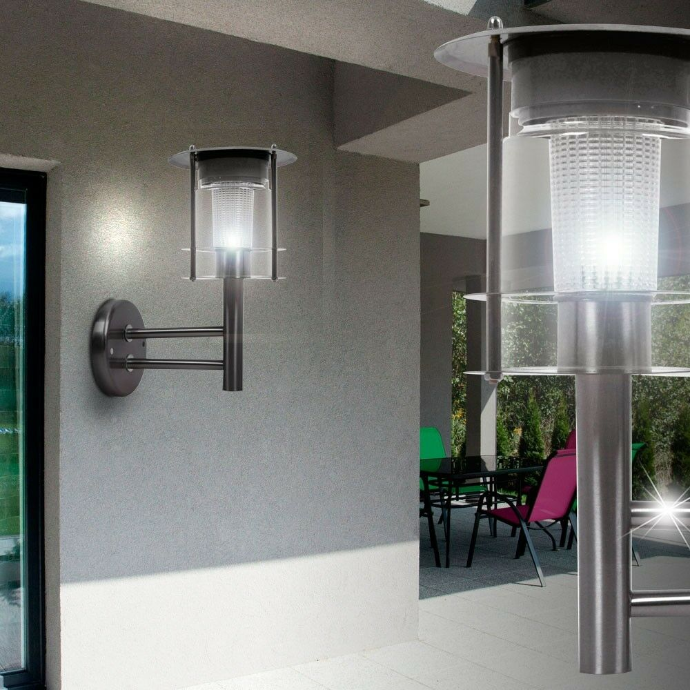 led wand lampe au en beleuchtung solar leuchte stahl terrasse balkon ip44 licht eur 15 90. Black Bedroom Furniture Sets. Home Design Ideas