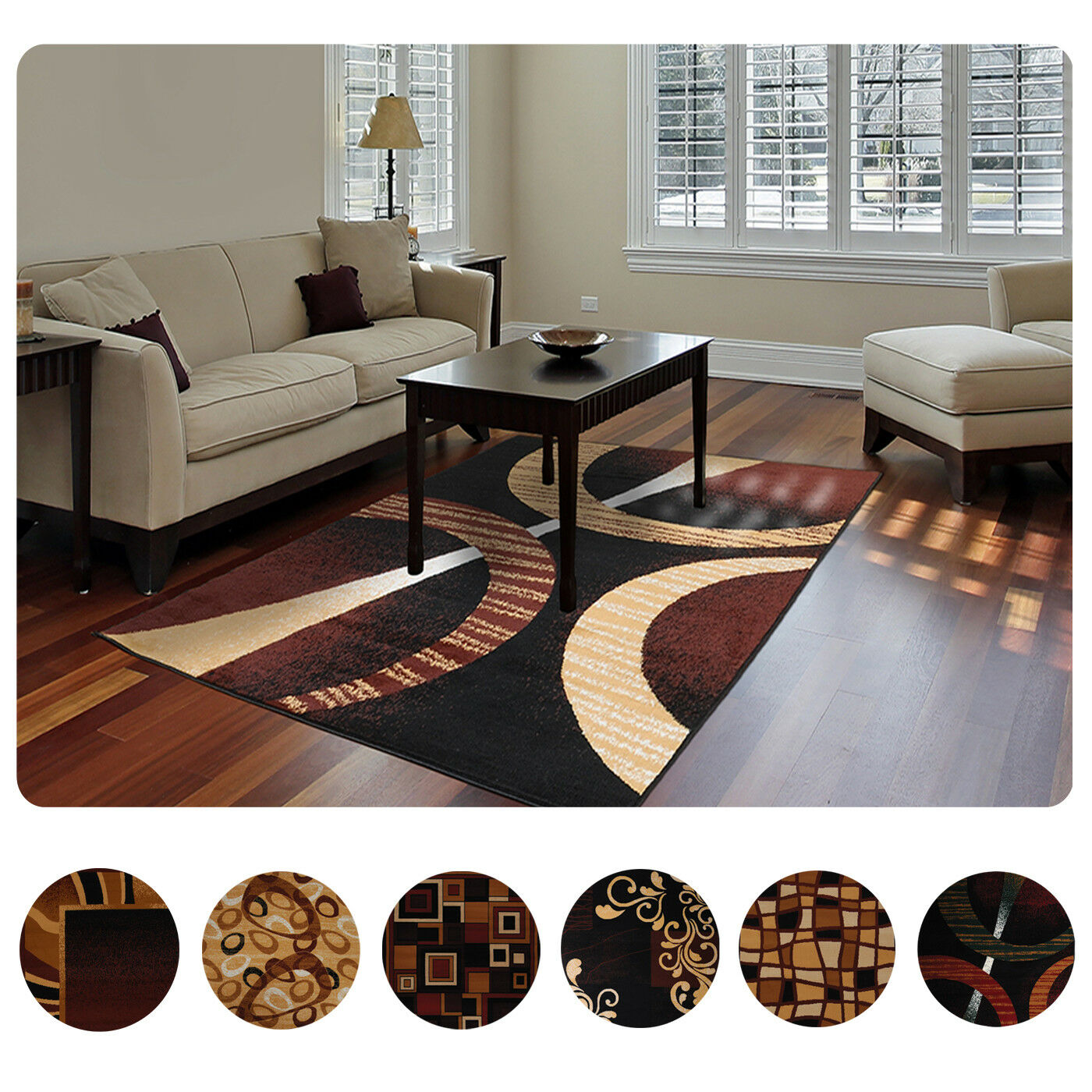Modern Contemporary Geometric Area Rug Runner Accent Mat Carpet 1 Of 2free Shipping