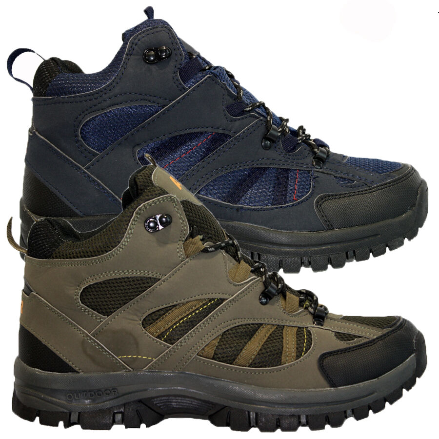 mens hiking boots walking ankle winter hi top trail