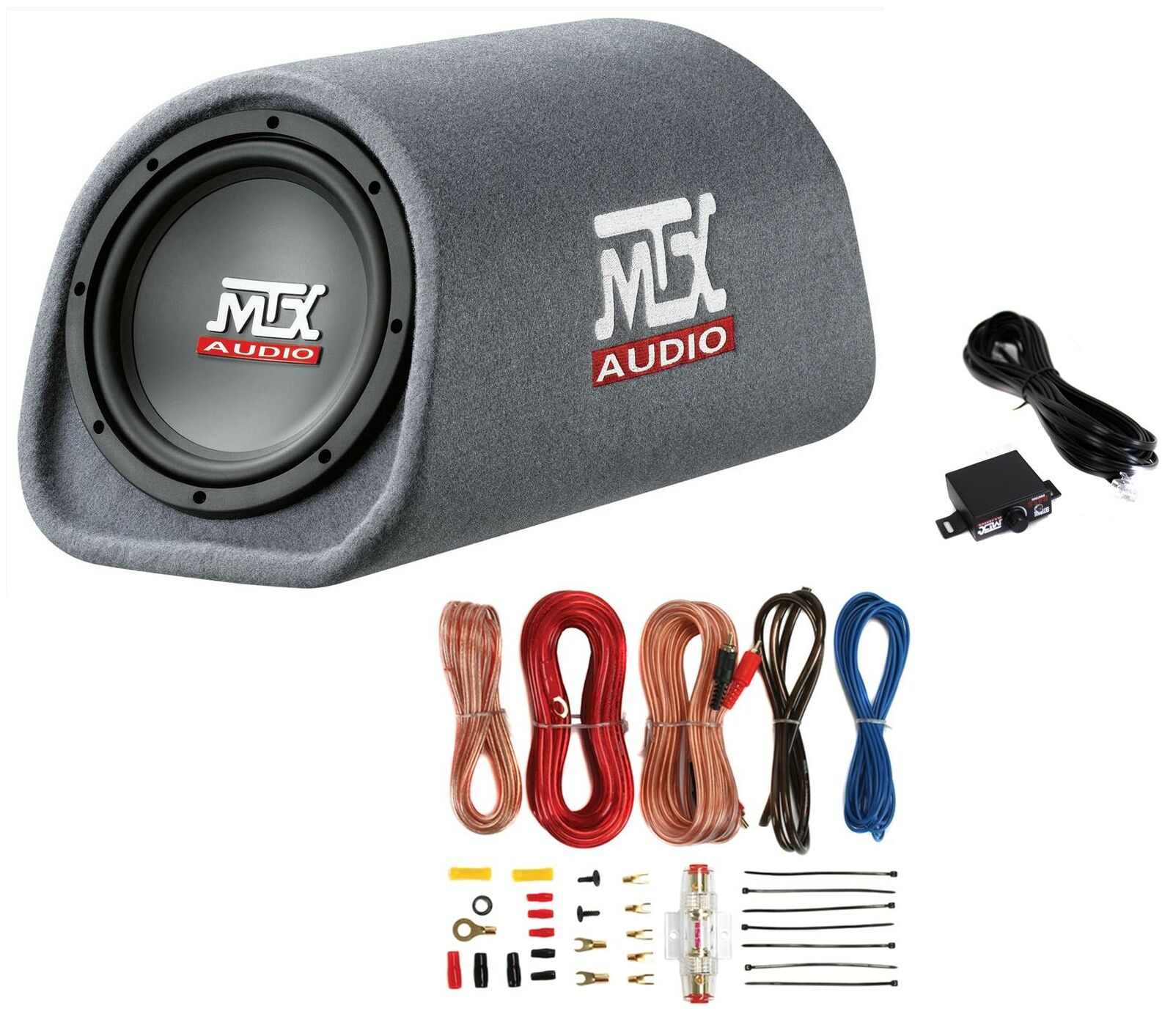 Mtx Road Thunder Rt8pt 8 240 Watt Powered Vented Ported Bass Tube Amp Wiring Kit Pyramid 8ga 1 Of 9only 4 Available