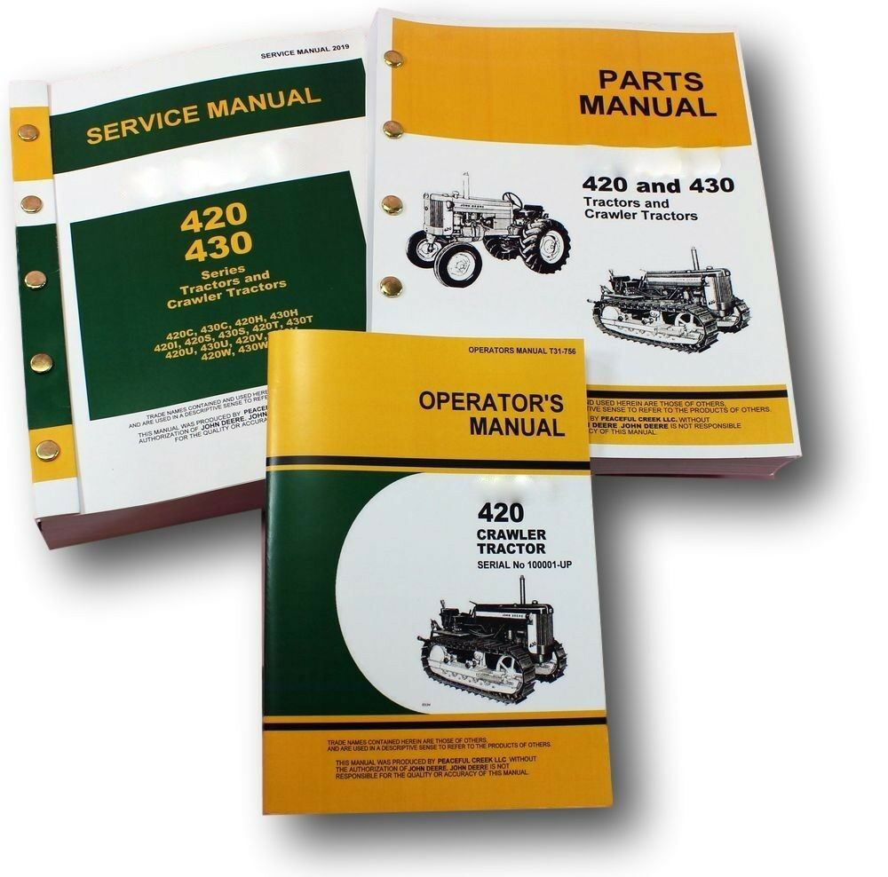 Service Manual Set For John Deere 420 420C Crawler Tractor Parts Operators  Dozer 1 of 11FREE Shipping See More