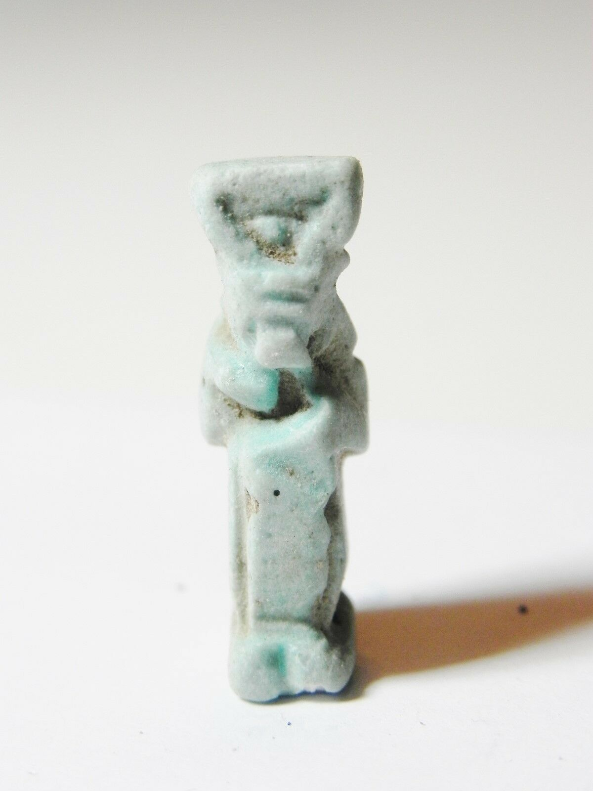 ZURQIEH -aa397- ANCIENT EGYPT, FAIENCE ISIS NURSING HORUS AMULET , 600 - 300 B.C