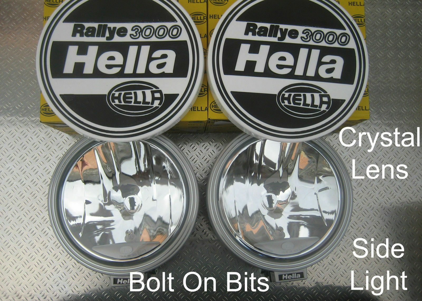 Hella Rallye 3000 Spot Light Lamps Crystal Lens Sidelight Covers 2006 Hilux Spotlight Wiring Diagram 1 Of 1only 2 Available