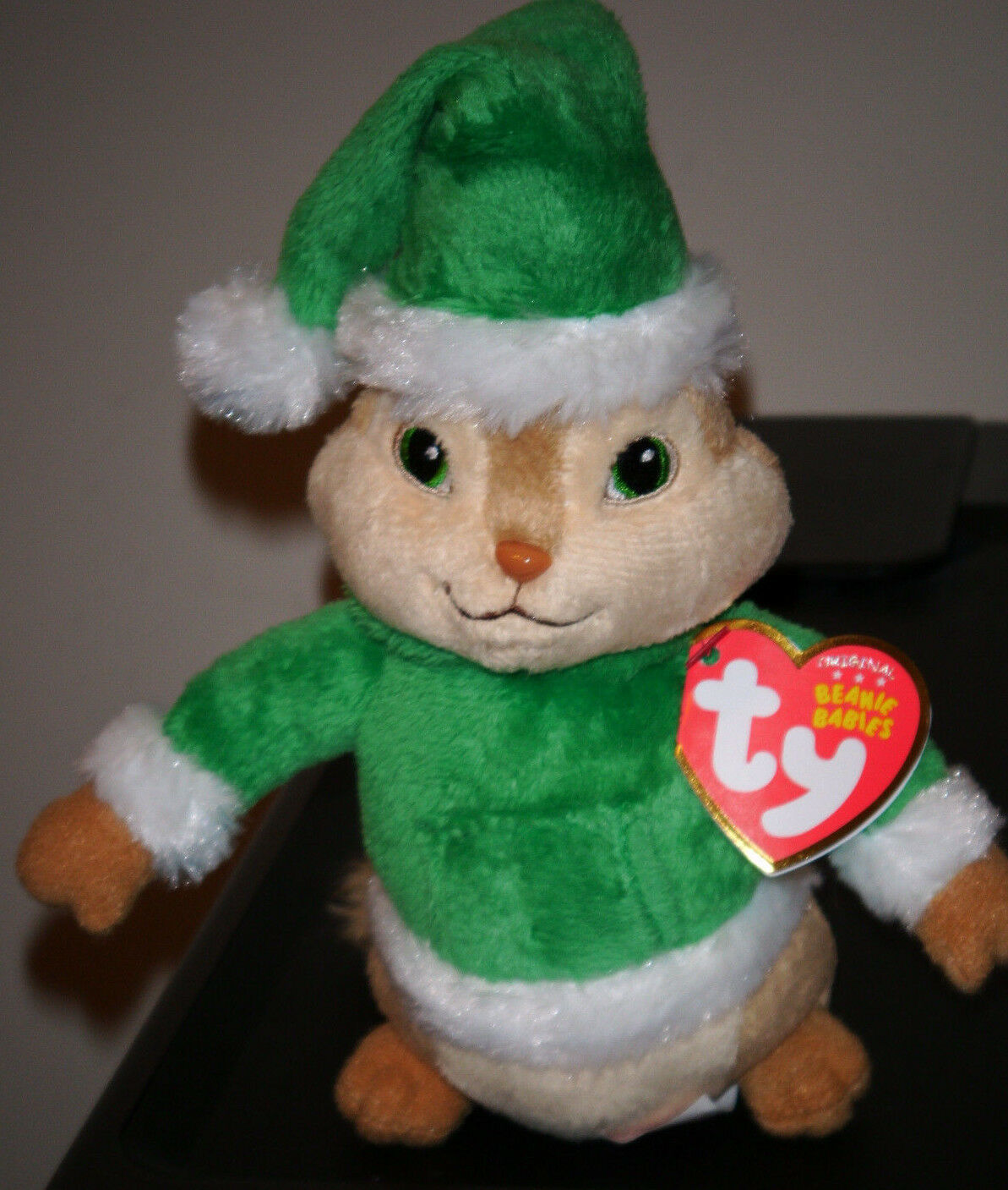 ty beanie baby theodore w holiday hat alvin and the chipmunks