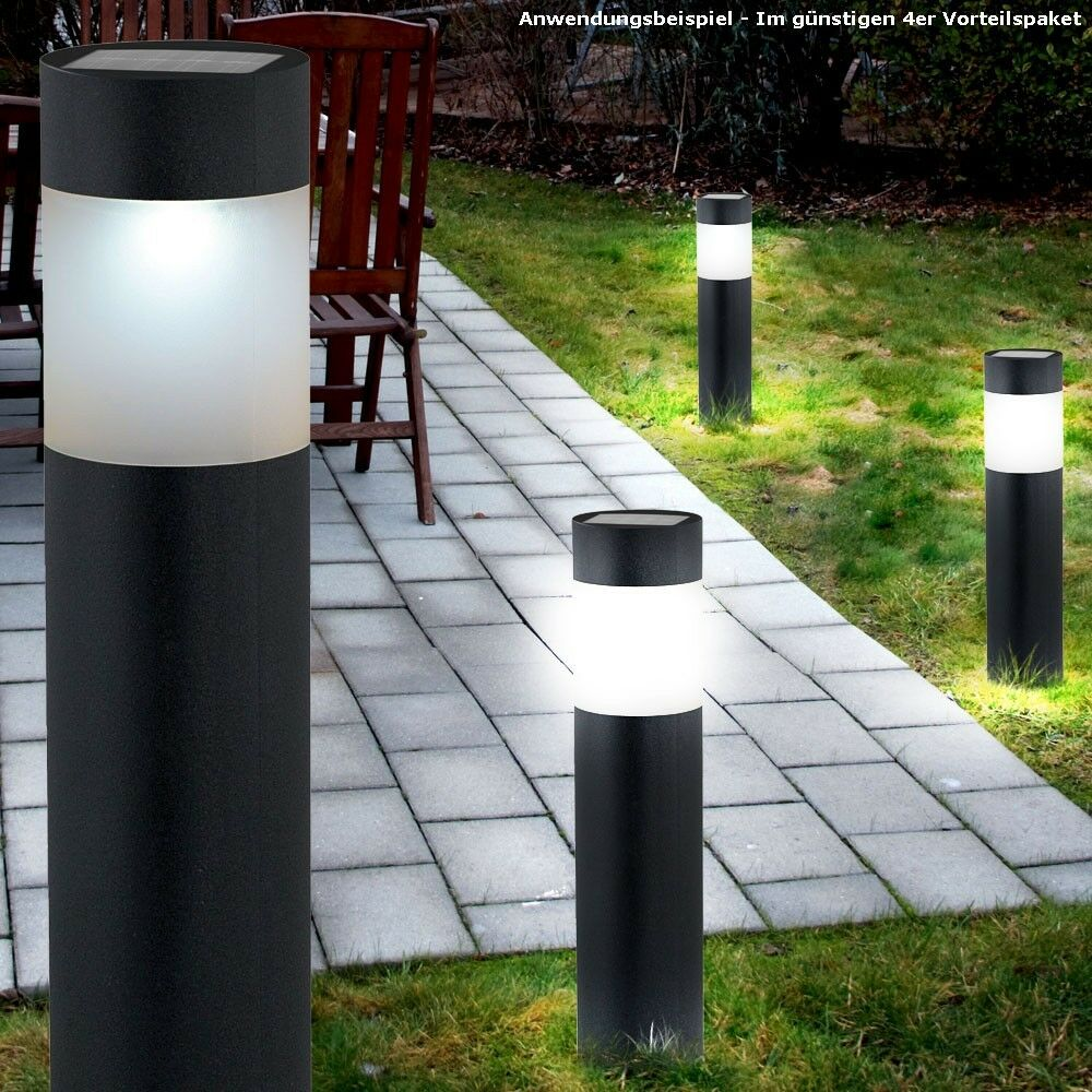 4er pack au en beleuchtung led garten stand lampen solar. Black Bedroom Furniture Sets. Home Design Ideas