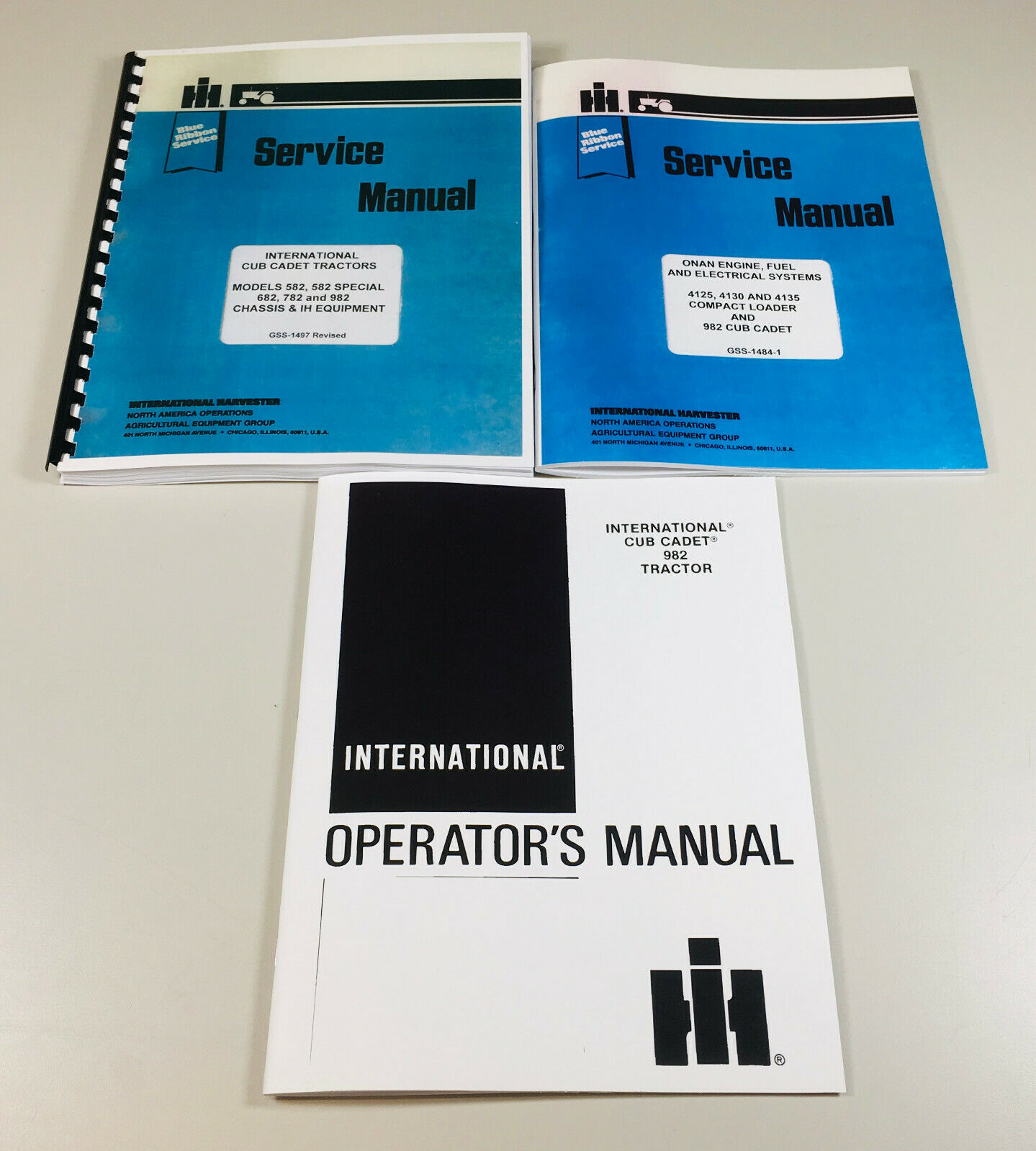Set Cub Cadet 982 Lawn Garden Tractor Service Owner Manual Repair Operator  1 of 11FREE Shipping ...