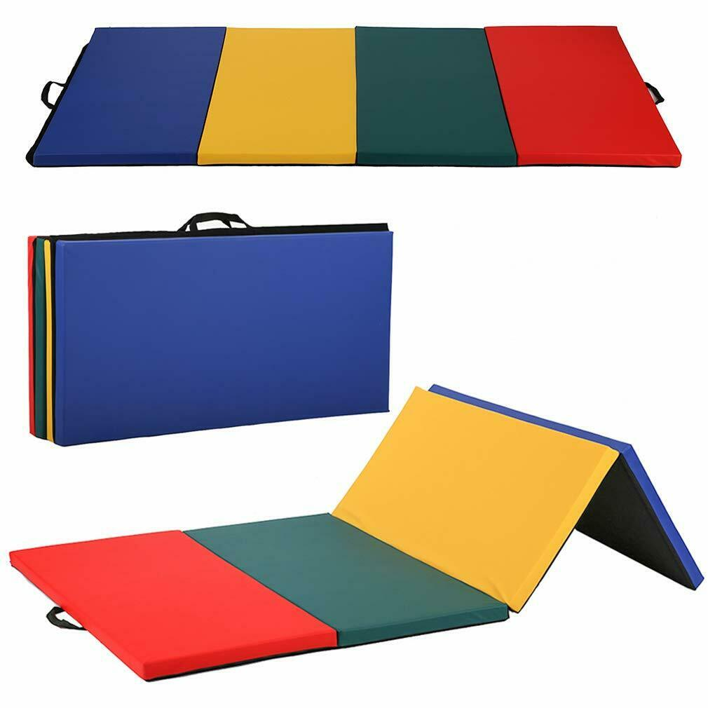 """All color 4'x8'x2""""Thick Folding Panel Gymnastics Mat Gym Fitness Exercise Mat R4"""