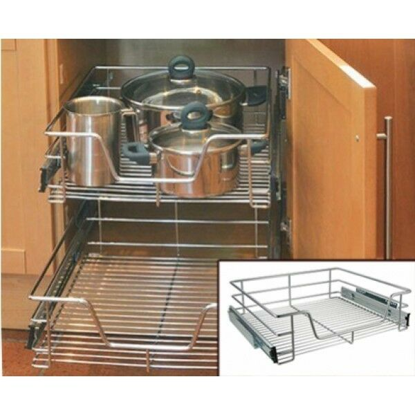 kitchen cabinet pull out wire baskets kitchen cabinet cupboard pull out wire storage basket 9133