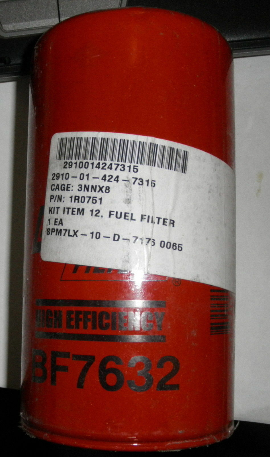Baldwin Fuel Filter Bf7632 Wix 33626 Fleetguard Ff5324 1r 0751 2910 Bendix Filters 1 Of 1only Available