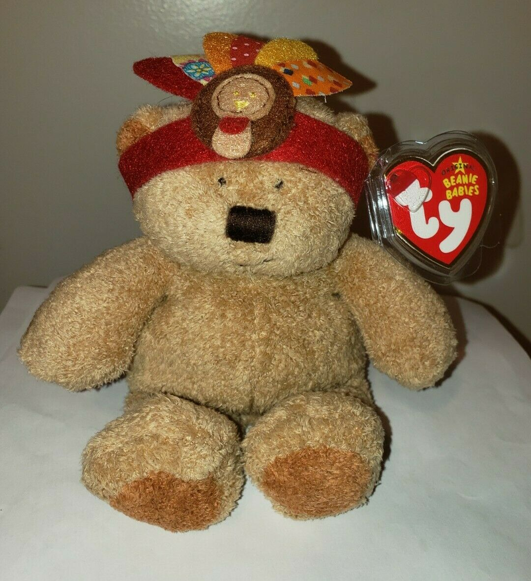 78e9d4a2365 Ty Beanie Baby ~ LITTLE BEAR the Indian Thanksgiving Bear (6.5 Inch) MWMT 1  of 3Only 4 available See More