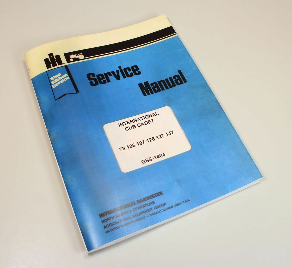 International Cub Cadet 126 127 147 Lawn Tractor Service Repair Workshop  Manual 1 of 9FREE Shipping ...