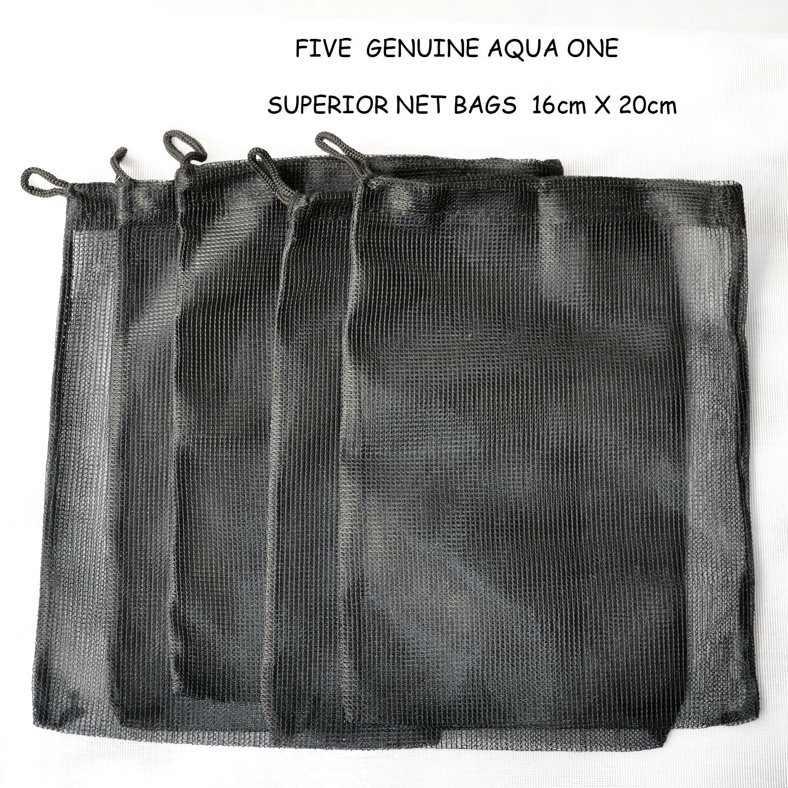 """GREAT DEAL' FIVE AQUA ONE BAGS - 16cm X 20cm - £4.95 That's 99p each! WITH F/P"
