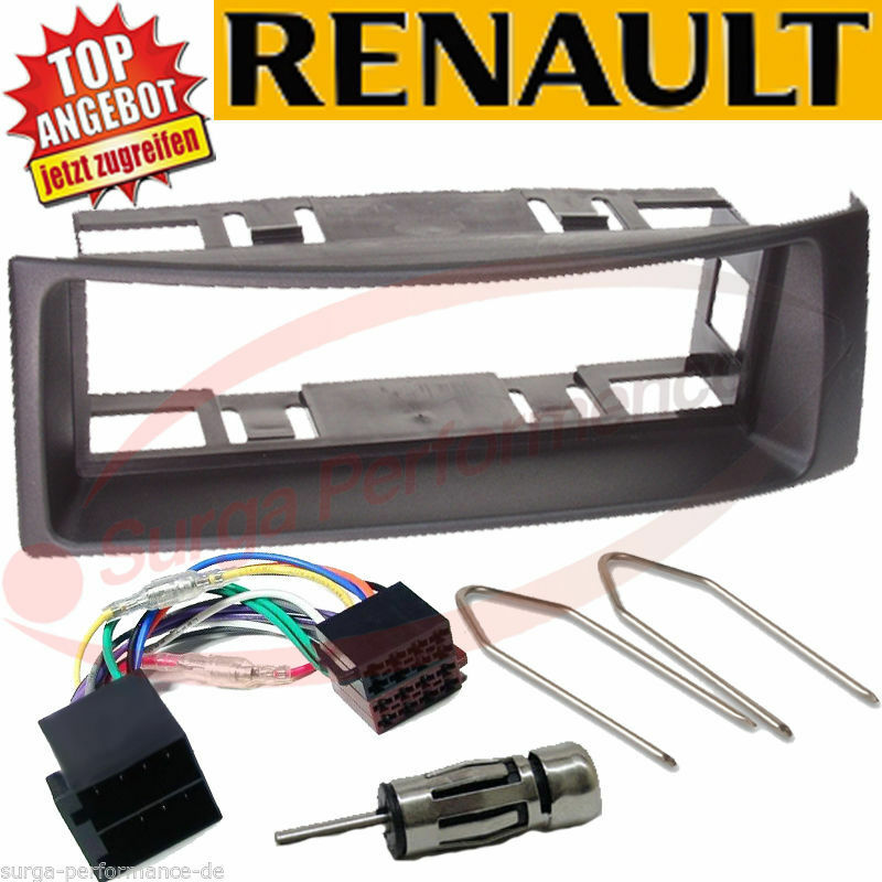 autoradio adapter renault megane 1 megane scenic1996 2002 schwarz eur 14 50 picclick es. Black Bedroom Furniture Sets. Home Design Ideas