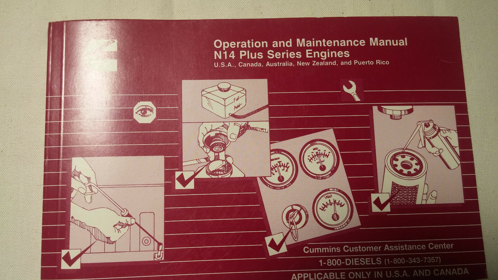 Operation And Maintenance Manual for Cummins N14 Series Engines Printed  1/99 1 of 2Only 1 available ...