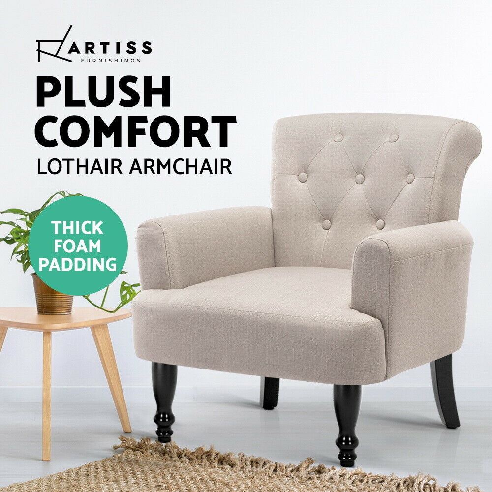 Artiss Lorraine Wingback Armchair Tub Lounge Wing Accent