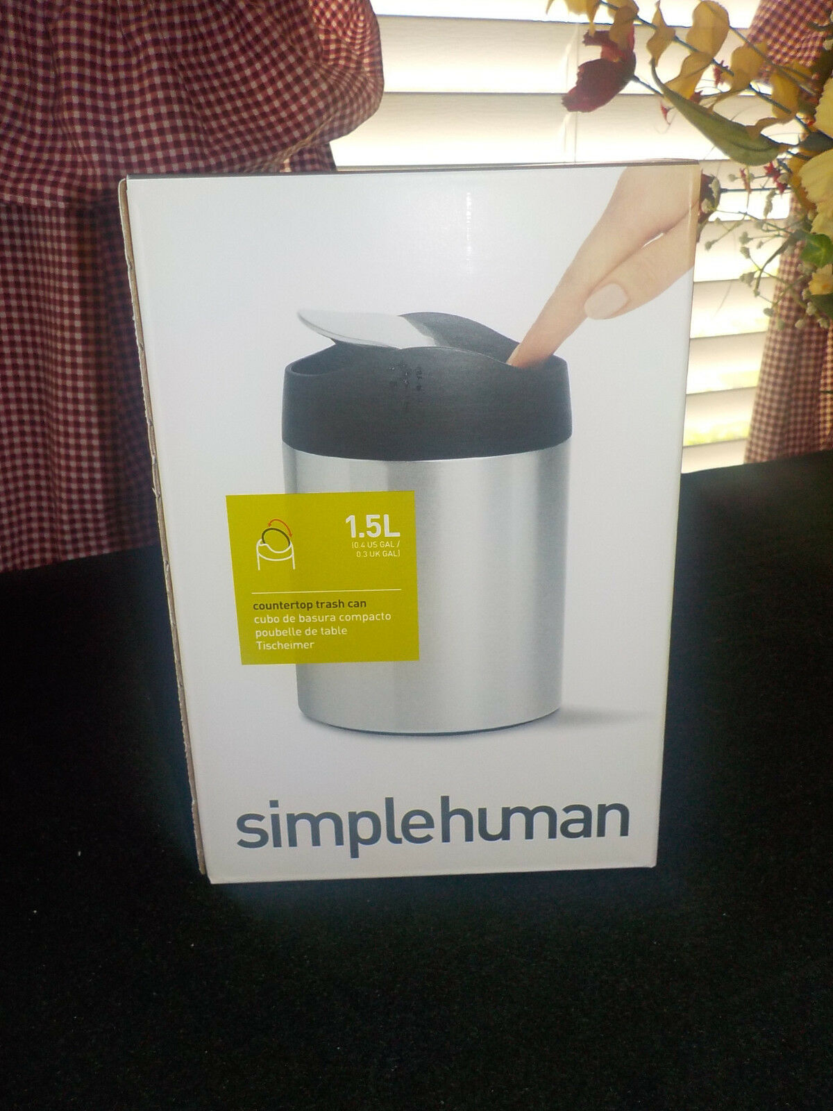 Simplehuman Countertop Trash Can No Fingerprints Made Of Stainless Steel 1 3only Available See More