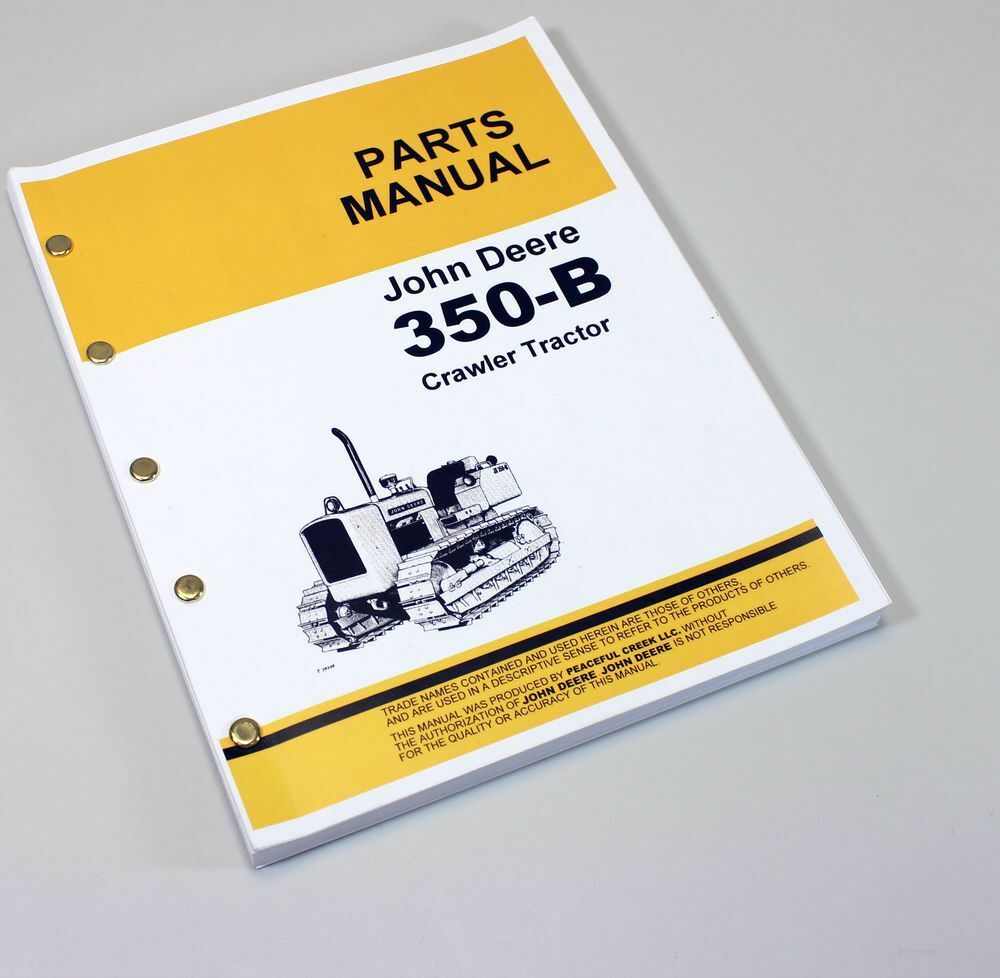 Parts Manual For John Deere 350B Crawler Tractor Catalog Assembly Dozer 1  of 7FREE Shipping ...