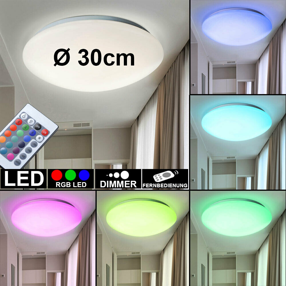 15 watt rgb led wand lampe farbwechsel wohn raum decken leuchte fernbedienung eur 29 90. Black Bedroom Furniture Sets. Home Design Ideas