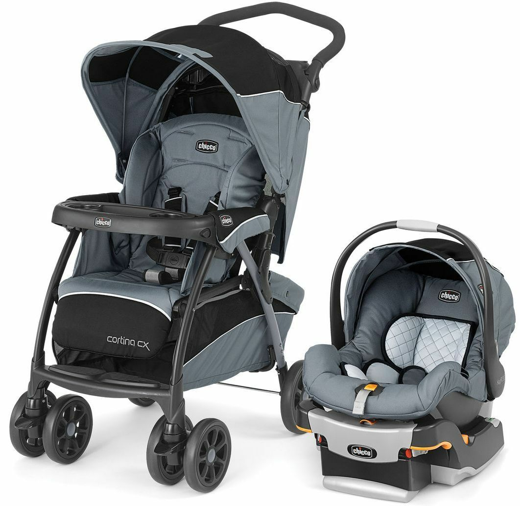 chicco cortina cx baby travel system stroller w keyfit 30 car seat iron new 2016 cad. Black Bedroom Furniture Sets. Home Design Ideas