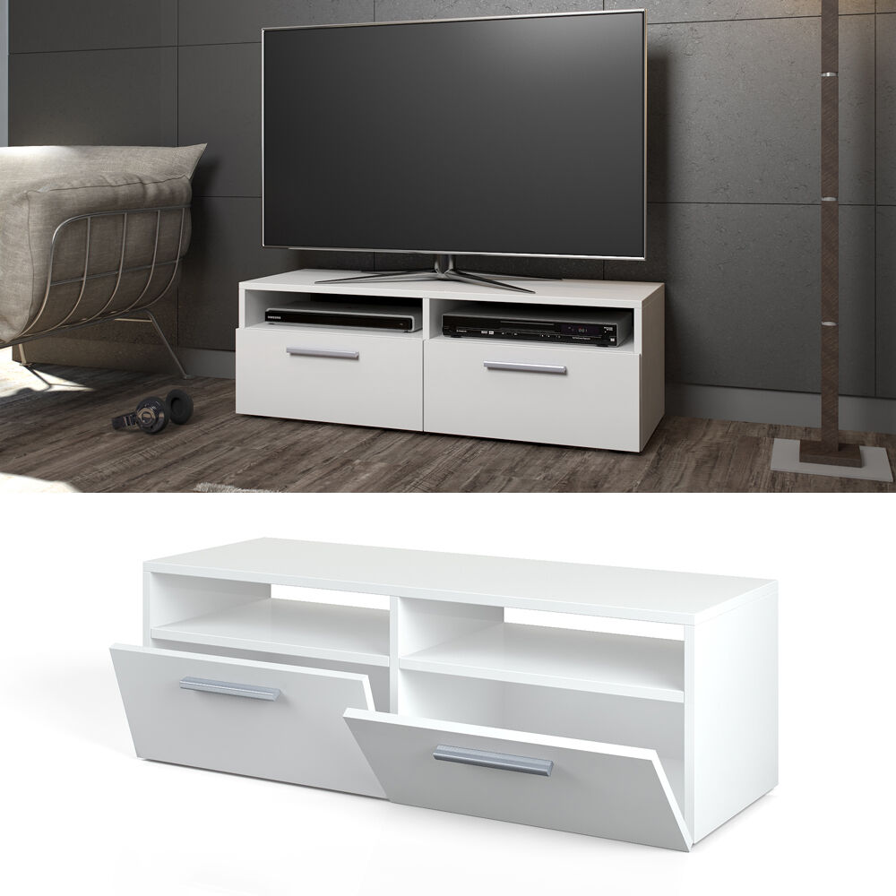tv lowboard 95cm wei hochglanz fernsehschrank. Black Bedroom Furniture Sets. Home Design Ideas