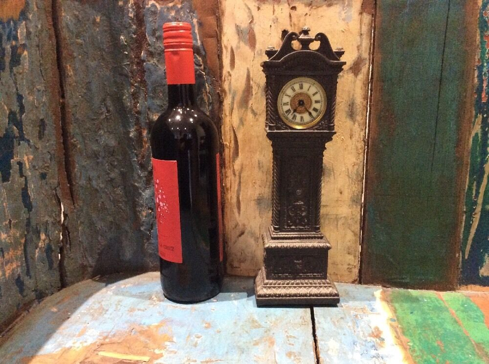 Miniature Antique Grandfather Clock.  Ansonia. New York. Working Fine.