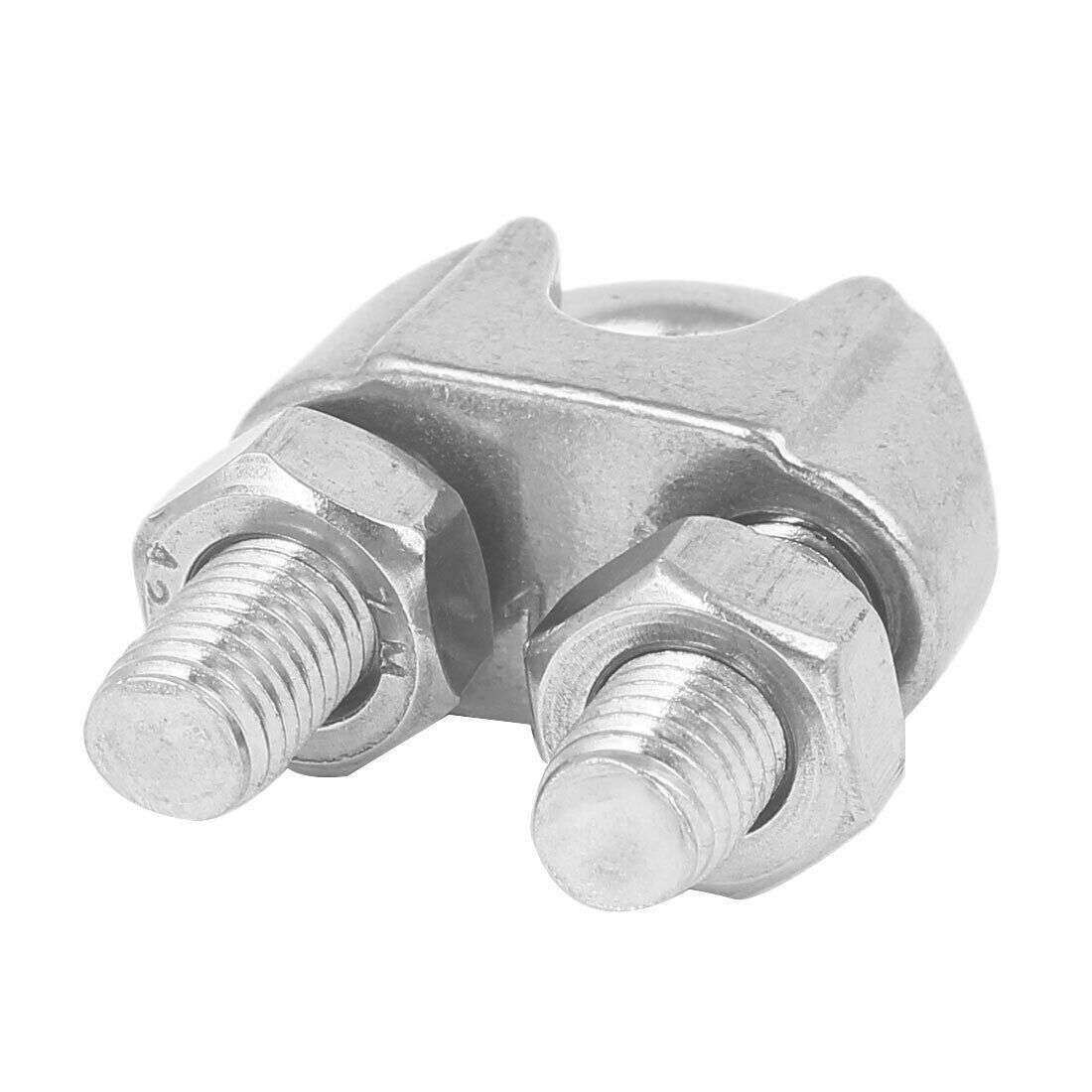 M12 304 STAINLESS Steel U-Shape Bolt Saddle Clamp Cable Wire Rope ...