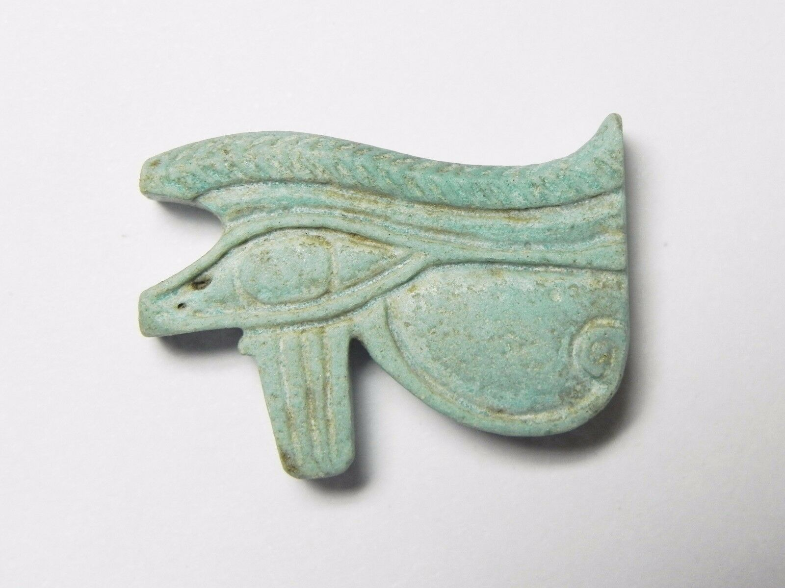 Zurqieh -Af955- Ancient Egypt - Faience Eye Of Horus Amulet , 664 - 332 B.c