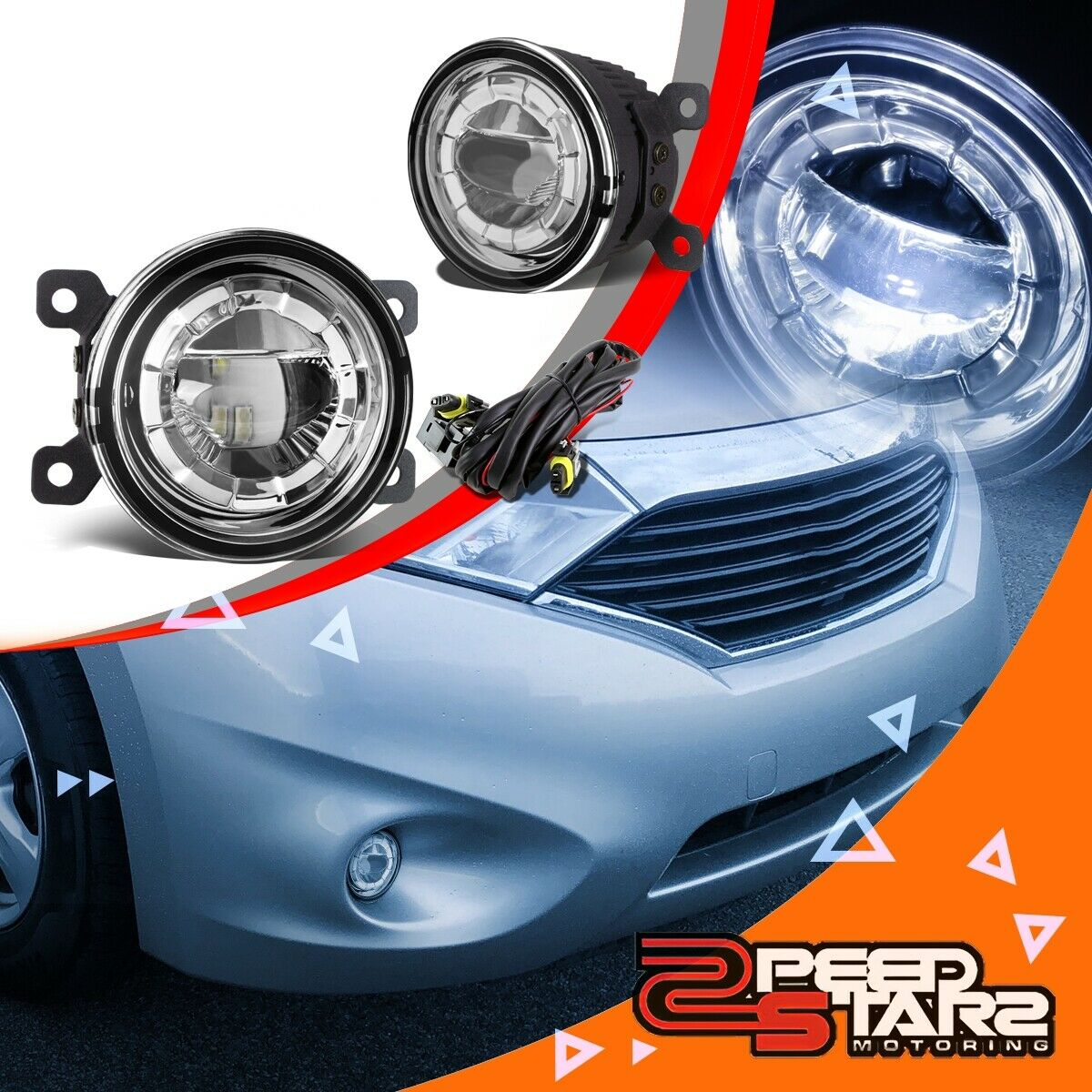 35clear Lens Round Replacement Led Projector Bumper Fog Light Wiring Harness 2007 2013 Gmc Sierra Pickup Plug And Play Lamps Wire Kit 1 Of 5free Shipping See More