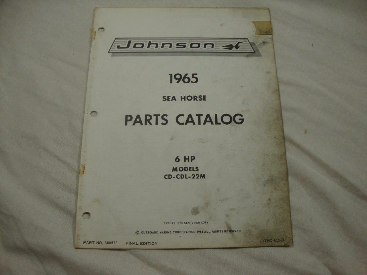 6hp Johnson Outboard Parts Diagram Electrical Wiring Diagrams 1988 9 Hp Catalog Manual 1965 Sea Horse 6 Cd Cdl 22m