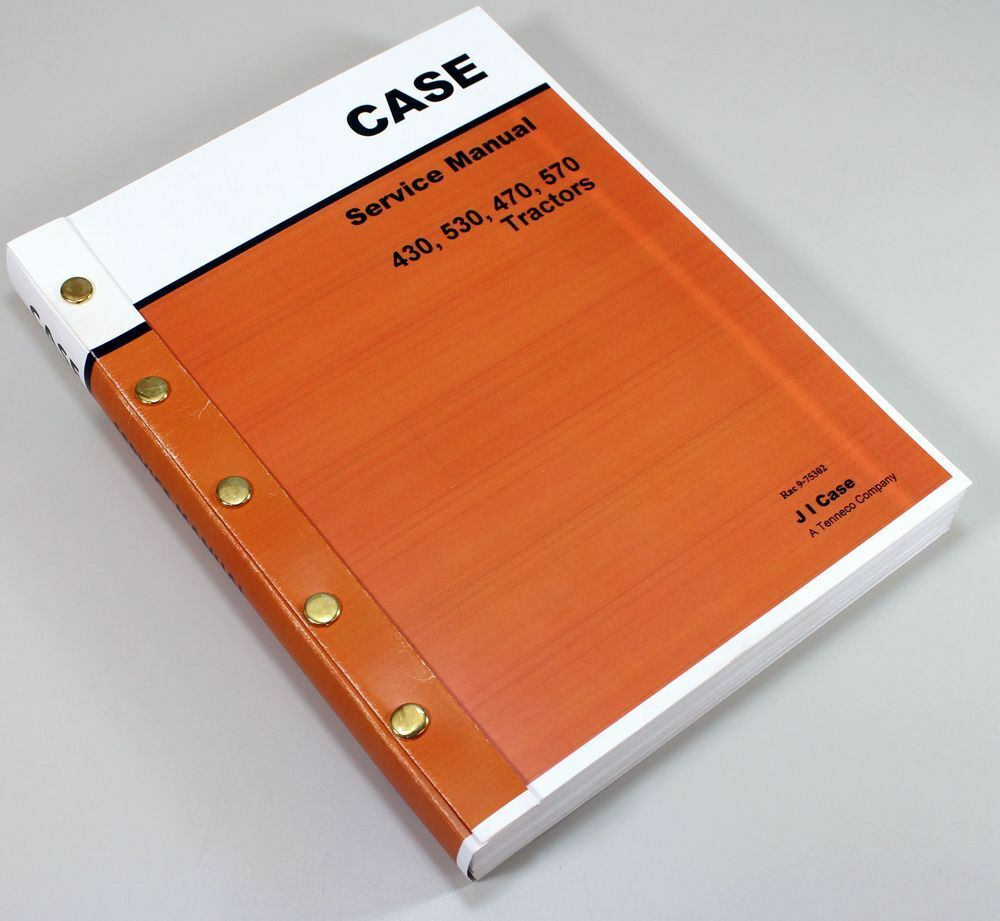 Case 430 530 470 570 Tractor Service Repair Manual Shop Book Overhaul 1 of  7FREE Shipping ...