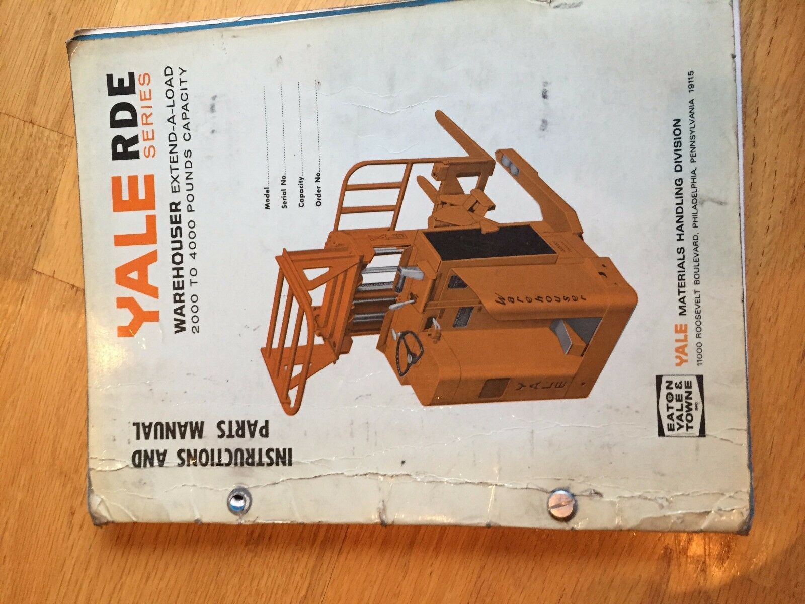 yale lift rde series forklift service manual truck 87 00 picclick rh picclick com Yale Forklifts Parts Manual Yale Owner's Manual