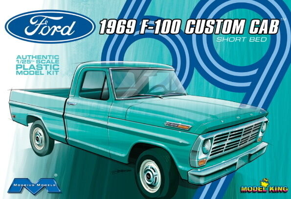 Moebius Models   Ford F  Custom Cab Plastic Model Kit