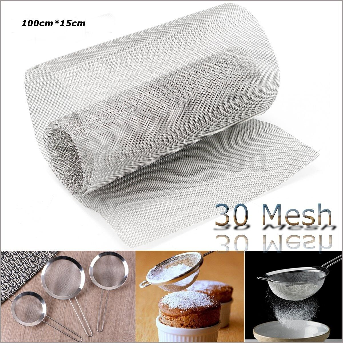 DIY STAINLESS STEEL 30 Mesh Wire Cloth Screen Plate Filtration ...