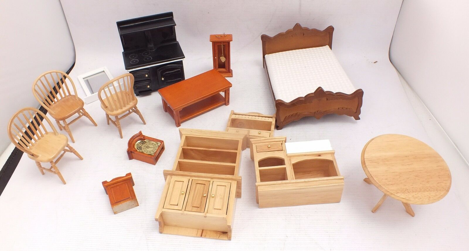 Collection Of Dolls House Furniture Wooden Porcelain B84 Picclick Uk