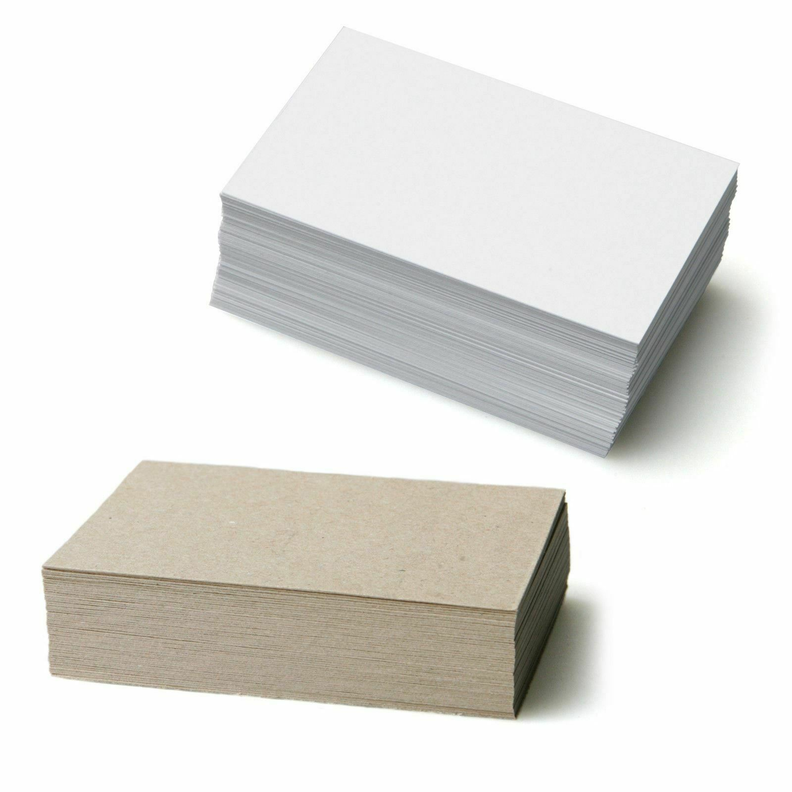 Blank business cards white 350gsm or kraft card in lots of 1 of 1free shipping colourmoves